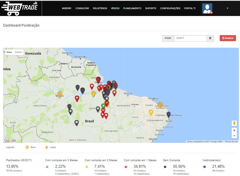 Webtrade Sales Relatorio Mapas Geolocalizacao