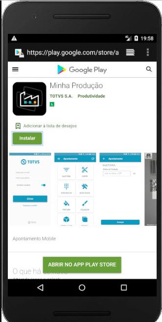 Minha Producao App da Totvs